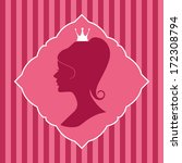 beautiful princess silhouette... | Shutterstock .eps vector #172308794