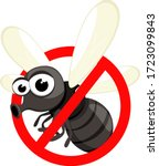 insect fly in sign of... | Shutterstock .eps vector #1723099843
