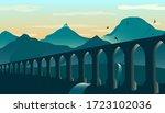 Antique Aqueduct Or Viaduct ...