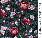 pattern with a lot of flowers... | Shutterstock .eps vector #1723116133
