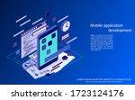 mobile application development  ... | Shutterstock .eps vector #1723124176