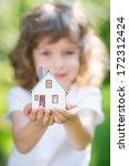 ecology house in children s... | Shutterstock . vector #172312424