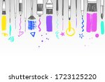 painting supplies  art tools... | Shutterstock .eps vector #1723125220