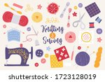 Knitting And Sewing Set With...