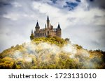 Castle On A Wooded Mountain In...