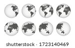 earth globe collection icons.... | Shutterstock .eps vector #1723140469