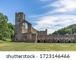 Wide View Of Fountains Abbey...