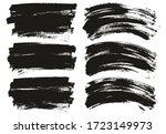 flat paint brush thin long  ... | Shutterstock .eps vector #1723149973
