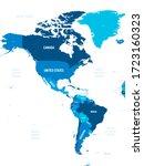 americas map   green hue...   Shutterstock .eps vector #1723160323