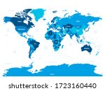 world map   green hue colored... | Shutterstock .eps vector #1723160440
