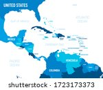 central america map   green hue ... | Shutterstock .eps vector #1723173373