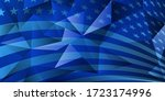 usa independence day abstract... | Shutterstock .eps vector #1723174996