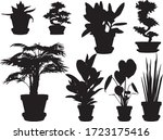 set of flowers in pots | Shutterstock .eps vector #1723175416