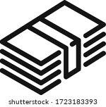 money cash vector line icon   Shutterstock .eps vector #1723183393