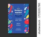 farmers market poster  vector...   Shutterstock .eps vector #1723201780