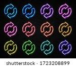 2 arrow circle icon set. 3d... | Shutterstock .eps vector #1723208899