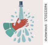 cartoon vector illustration of... | Shutterstock .eps vector #1723222096
