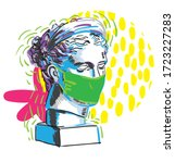 gypsum head. antique statue....   Shutterstock .eps vector #1723227283