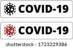 covid 19 icon and title set | Shutterstock .eps vector #1723229386