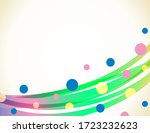 wavy lines and dots background. ... | Shutterstock . vector #1723232623