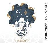happy eid al fitr written in... | Shutterstock .eps vector #1723236430