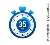 the 35 minutes  stopwatch...   Shutterstock .eps vector #1723238533