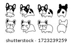 dog vector french bulldog icon... | Shutterstock .eps vector #1723239259