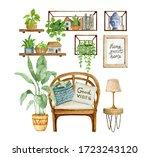 Home Decor Illustration. Cozy...