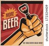more beer  retro vector design... | Shutterstock .eps vector #172324409