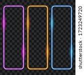 neon frames  border set  vector ... | Shutterstock .eps vector #1723249720