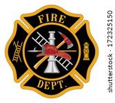 axe,black,cross,department,emergency,equipment,fire,firefighter,fireman,gold,helmet,hook,icon,illustration,ladder