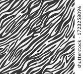 Zebra Striped Lines Fur Skin...