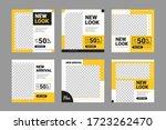 set of editable minimal square... | Shutterstock .eps vector #1723262470