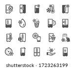 fridge icons. refrigerator ... | Shutterstock .eps vector #1723263199