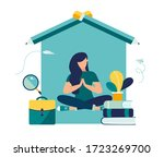 vector illustration  online... | Shutterstock .eps vector #1723269700