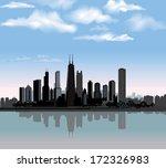 Chicago City Skyline Detailed...
