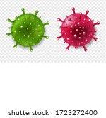 coronavirus with isolated...   Shutterstock . vector #1723272400