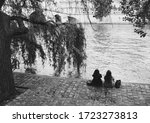 Two Young Women Relaxing At...