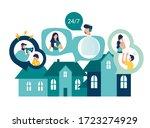 vector illustration  domestic... | Shutterstock .eps vector #1723274929