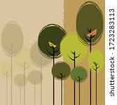 springtime vector background... | Shutterstock .eps vector #1723283113