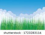 springtime vector background... | Shutterstock .eps vector #1723283116