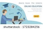 landing page online education.... | Shutterstock .eps vector #1723284256