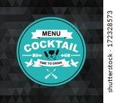 cocktail bar menu  template... | Shutterstock .eps vector #172328573