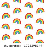 vector seamless pattern of hand ... | Shutterstock .eps vector #1723298149