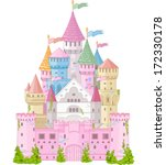 Fairy Tale magic Princess Castle   - stock vector
