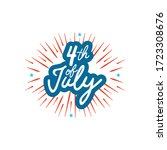 fourth of july  united stated... | Shutterstock .eps vector #1723308676