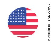 usa flag circle flat style icon ... | Shutterstock .eps vector #1723308979