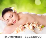 adult beautiful woman relaxing...   Shutterstock . vector #172330970