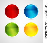 colorful web buttons set | Shutterstock .eps vector #172331234