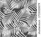 grey palm leaves vector pattern ... | Shutterstock .eps vector #1723320079